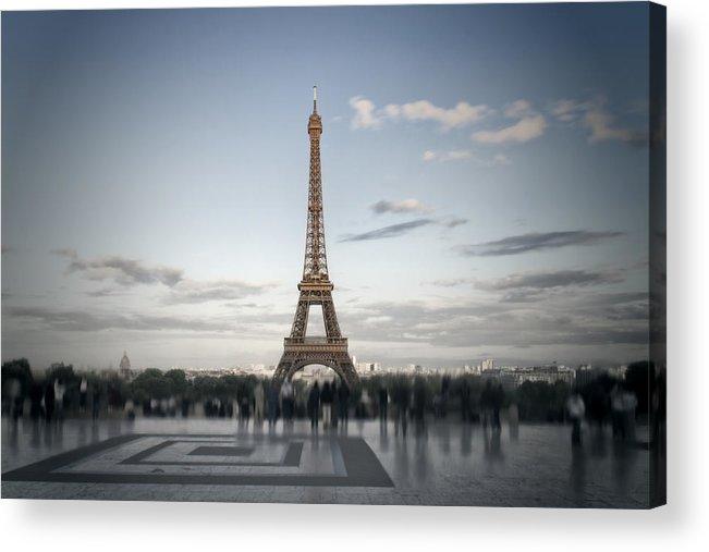 Europe Acrylic Print featuring the digital art Eiffel Tower Paris by Melanie Viola