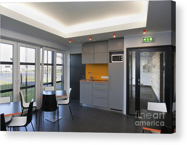 Architectural Design Acrylic Print featuring the photograph Empty Office Lunchroom by Jaak Nilson