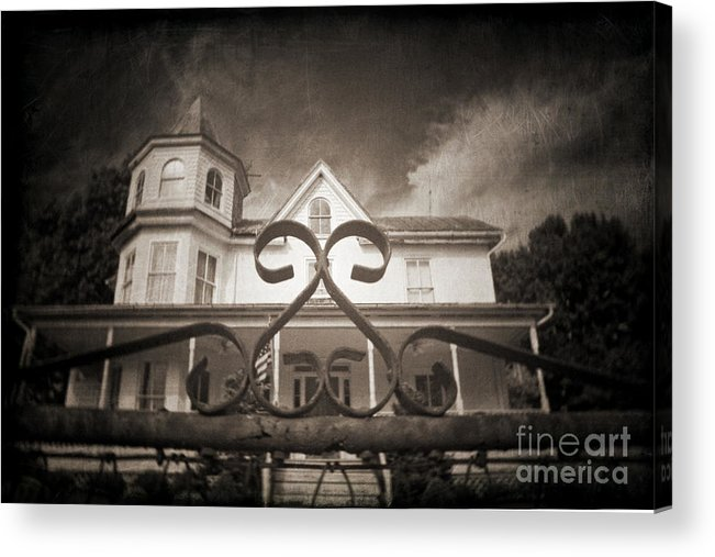 Gate Acrylic Print featuring the photograph Enter If You Dare by Jane Brack