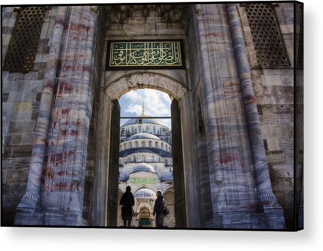 Gate Acrylic Print featuring the photograph Enter by Joan Carroll