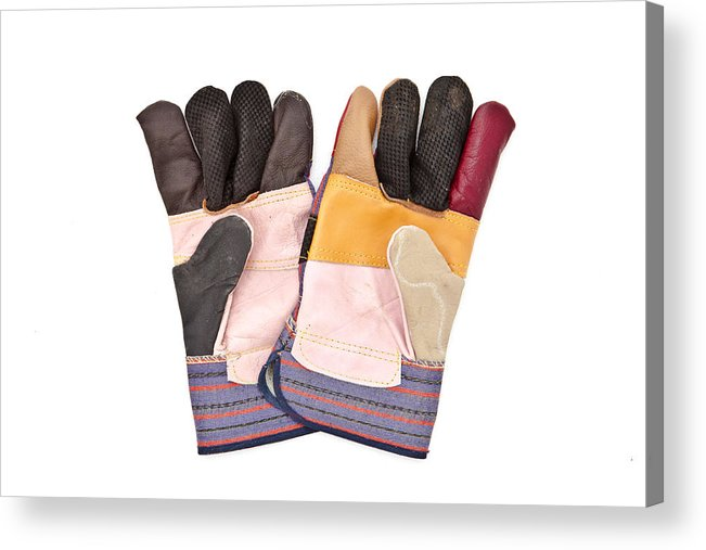 Accessory Acrylic Print featuring the photograph Gardening Gloves by Tom Gowanlock