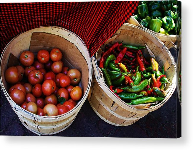 Tomatoes Acrylic Print featuring the photograph Going To Market by Paulette Thomas