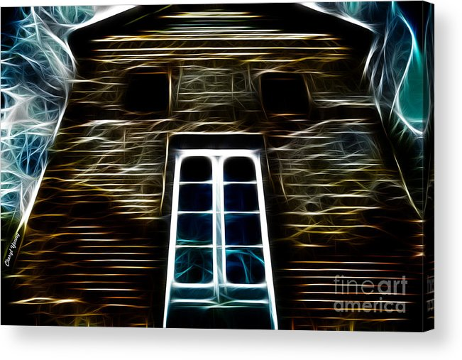 Haunted House Acrylic Print featuring the photograph Haunted House by Cheryl Young