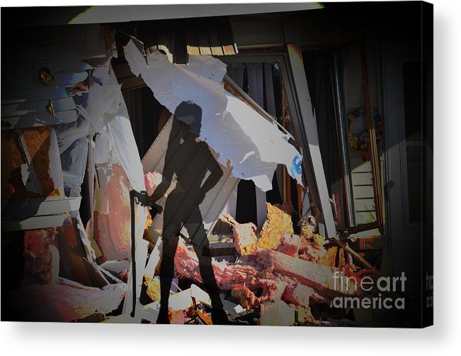 Destruction Acrylic Print featuring the photograph Homewrecker by The Stone Age