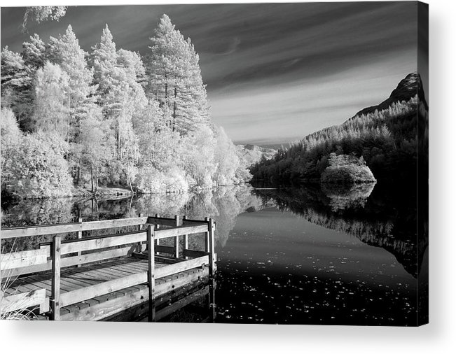 Horizontal Acrylic Print featuring the photograph Infrared Glencoe Lochan by Billy Currie Photography