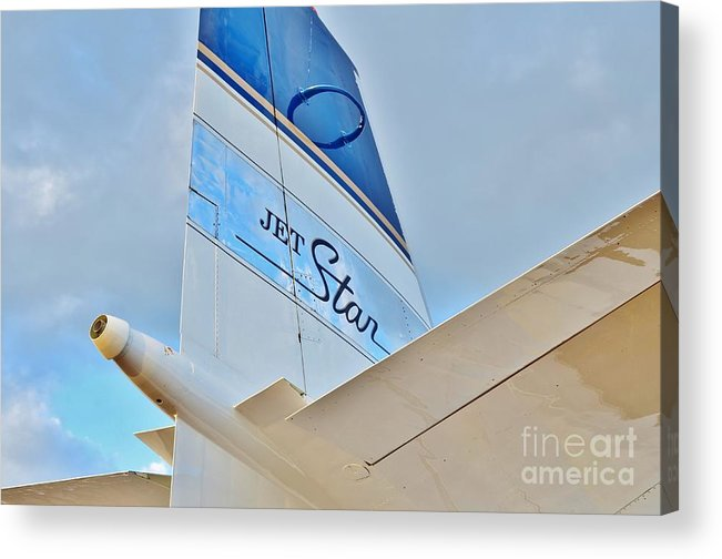 Lockheed Acrylic Print featuring the photograph Jet Star by Lynda Dawson-Youngclaus
