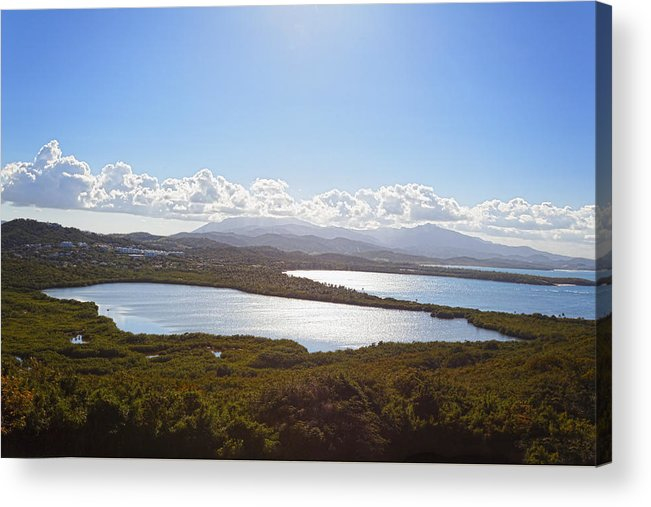 Bioluminescent Acrylic Print featuring the photograph Laguna Grande by George Oze