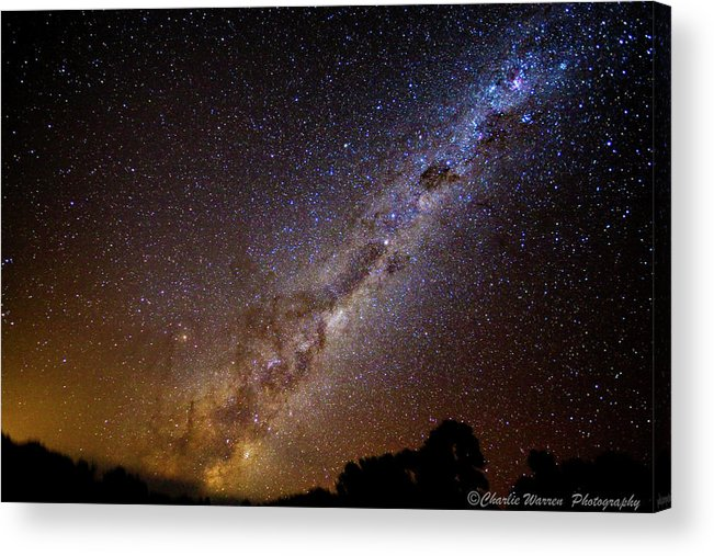 Astro Images Acrylic Print featuring the photograph Milky Way Down Under by Charles Warren