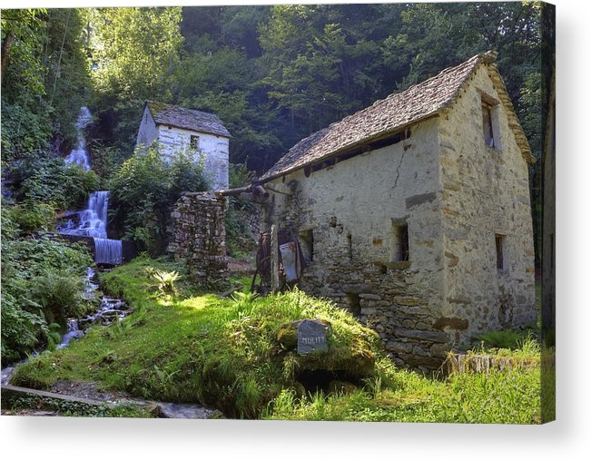 Moghegno Acrylic Print featuring the photograph Old Watermill by Joana Kruse