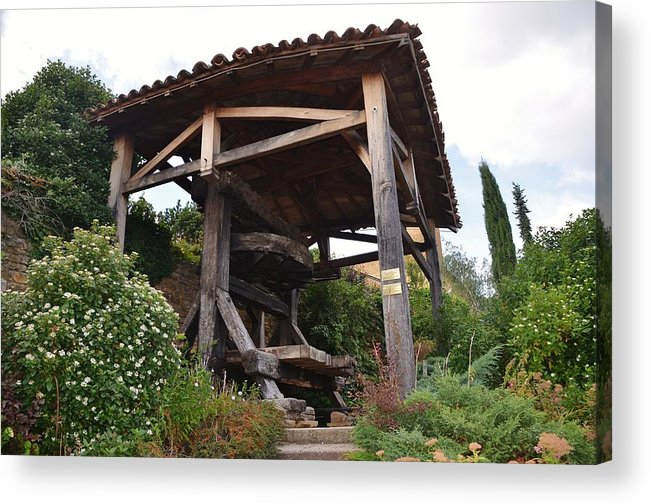 Agriculture Acrylic Print featuring the photograph Old Wine Press by Dany Lison