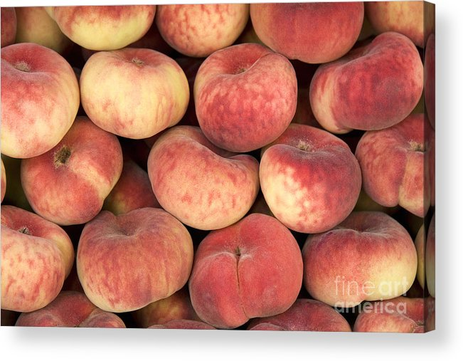 Agriculture Acrylic Print featuring the photograph Peaches by Jane Rix