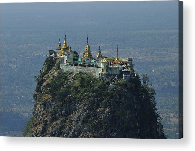 Horizontal Acrylic Print featuring the photograph Popa Mountain Top Temple by Huang Xin
