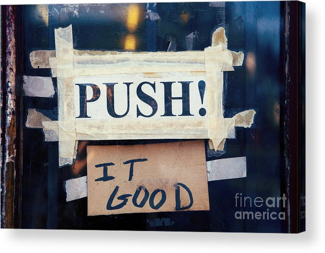 New Orleans Acrylic Print featuring the photograph Push It Good by Kim Fearheiley