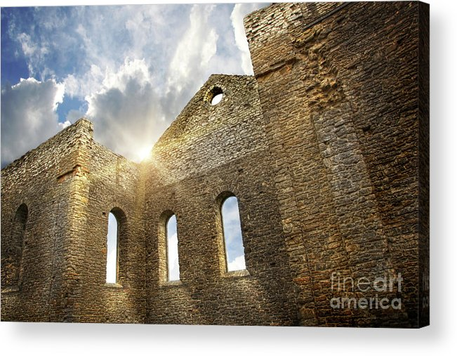 Architecture Acrylic Print featuring the photograph Ruins Of A Church In South Glengarry by Sandra Cunningham