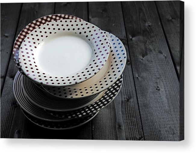 Old Acrylic Print featuring the photograph Rural Plates by Joana Kruse