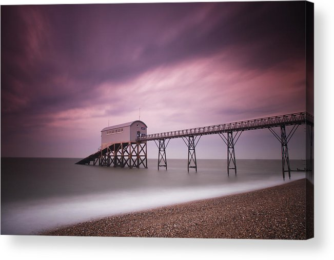 England Acrylic Print featuring the photograph Selsey Lifeboat Station by Nina Papiorek