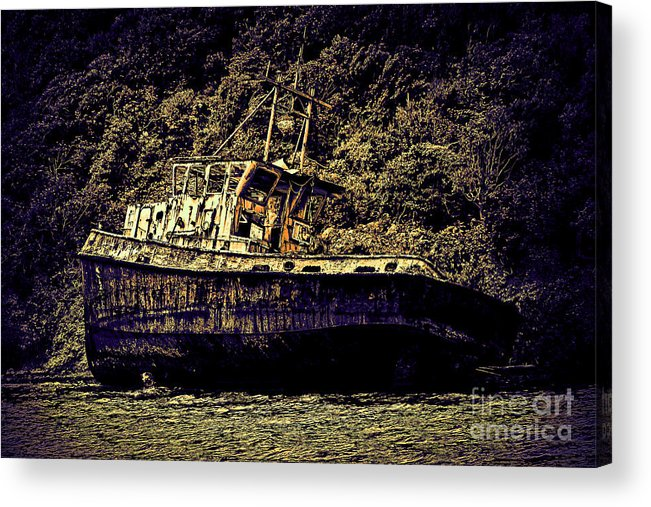 Artistic Photography Acrylic Print featuring the photograph Shipwreck by Tom Prendergast