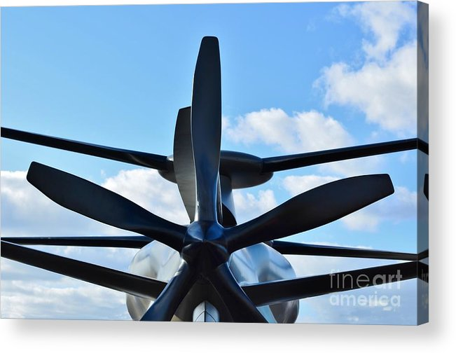 Model Acrylic Print featuring the photograph Sikorsky X2 Demonstrator Model by Lynda Dawson-Youngclaus