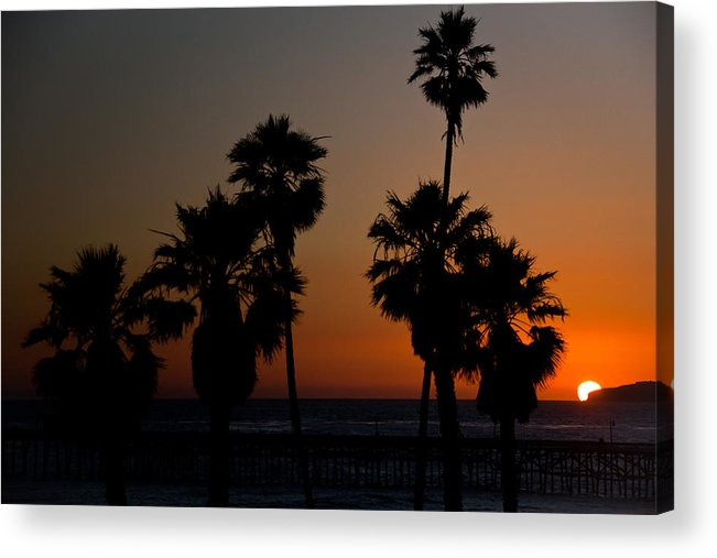 San Clemente Acrylic Print featuring the photograph sunset in Califiornia by Ralf Kaiser
