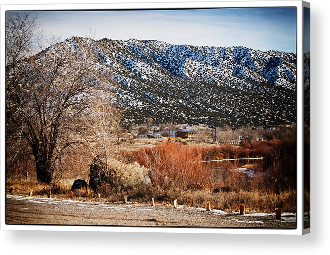 Taos Acrylic Print featuring the photograph Taos Mountain View 1 by Lisa Spencer