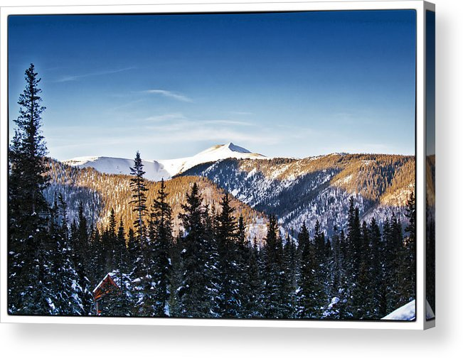 Landscape Acrylic Print featuring the photograph Taos Mountains Sunset by Lisa Spencer