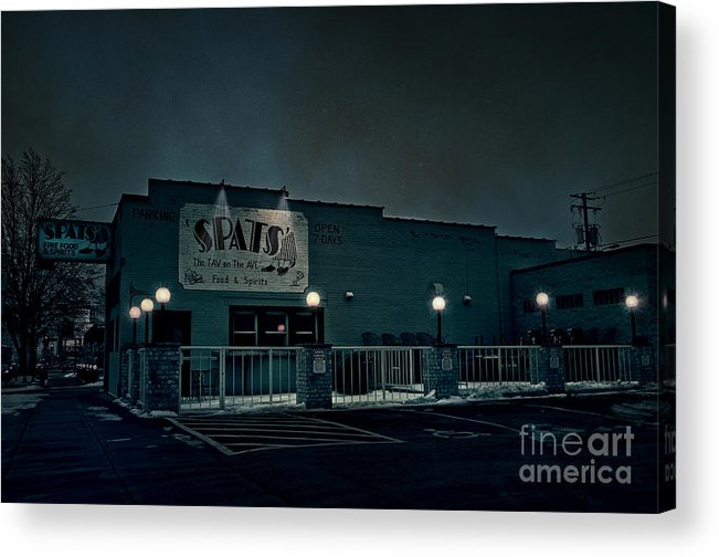 Spats Acrylic Print featuring the photograph Tav On The Ave by Joel Witmeyer