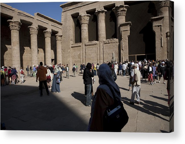 Africa Acrylic Print featuring the photograph Tourists Wander Through The Temple by Taylor S. Kennedy