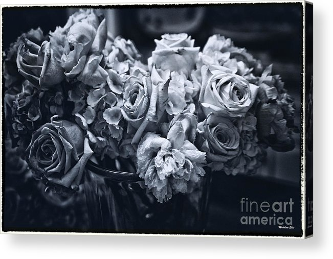 Flowers Acrylic Print featuring the photograph Vase Of Flowers 2 by Madeline Ellis