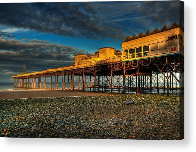 Beach Acrylic Print featuring the photograph Victorian Pier by Adrian Evans