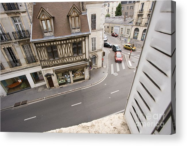 France Acrylic Print featuring the pyrography View From Window  by Igor Kislev