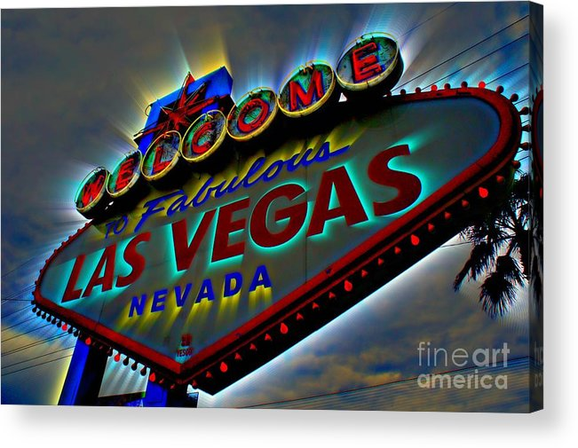 Las Vegas Acrylic Print featuring the photograph Welcome To Las Vegas by Kevin Moore