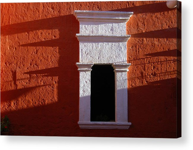 Monastery Acrylic Print featuring the photograph White Window by RicardMN Photography