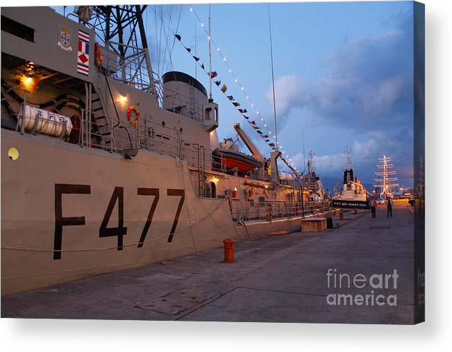 Frigates Acrylic Print featuring the photograph Portuguese Navy Frigates by Gaspar Avila