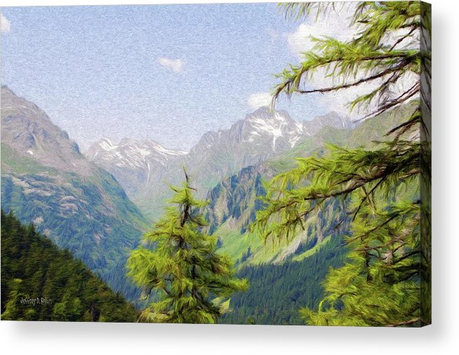 Alpine Acrylic Print featuring the painting Alpine Altitude by Jeff Kolker