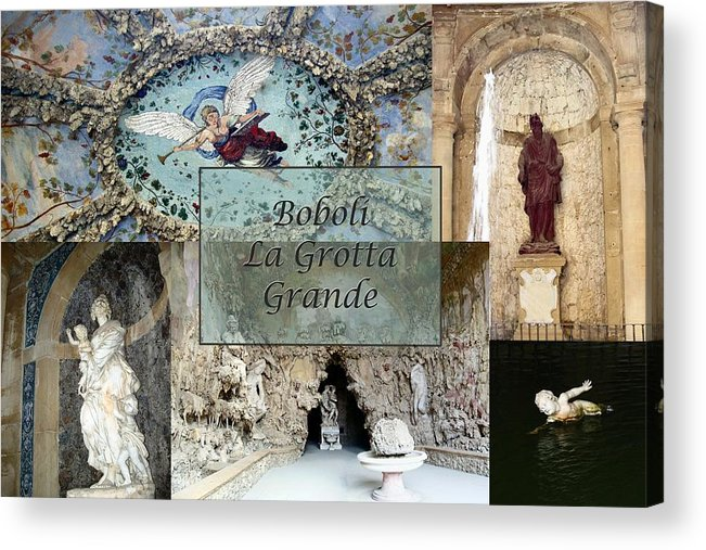 Cave Acrylic Print featuring the photograph Boboli La Grotta Grande 2 by Ellen Henneke