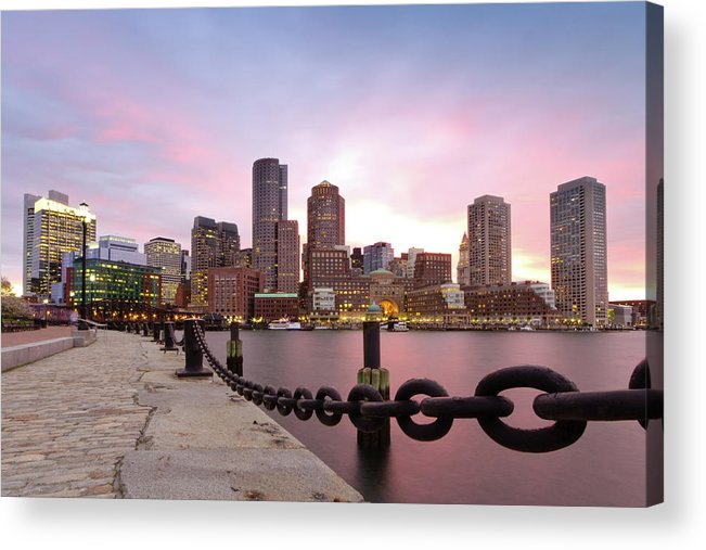 Horizontal Acrylic Print featuring the photograph Boston Harbor by Photo by Jim Boud