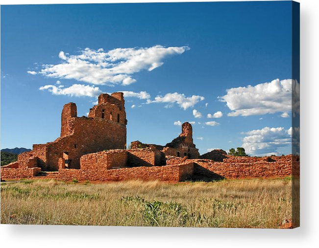 Church Acrylic Print featuring the photograph Church Abo - Salinas Pueblo Missions Ruins - New Mexico - National Monument by Christine Till