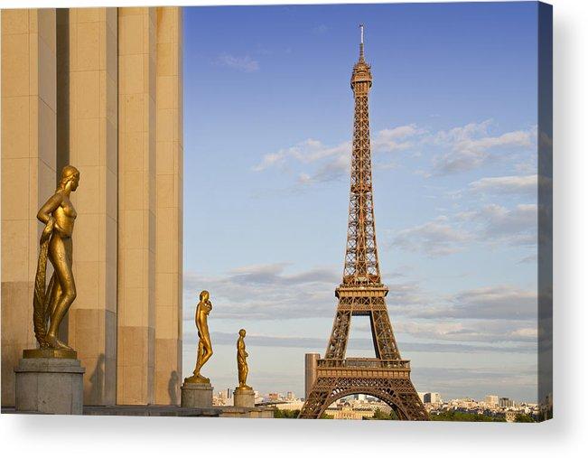 Historic Acrylic Print featuring the photograph Eiffel Tower Paris Trocadero by Melanie Viola