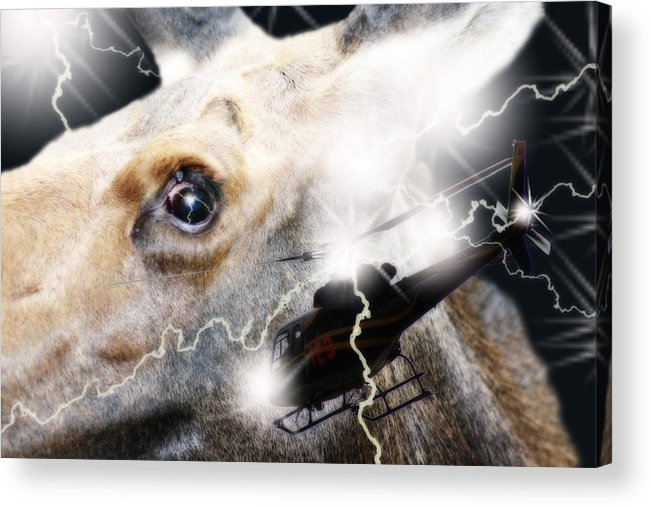 Threatened Acrylic Print featuring the digital art Extreme Fear by Cathy Beharriell