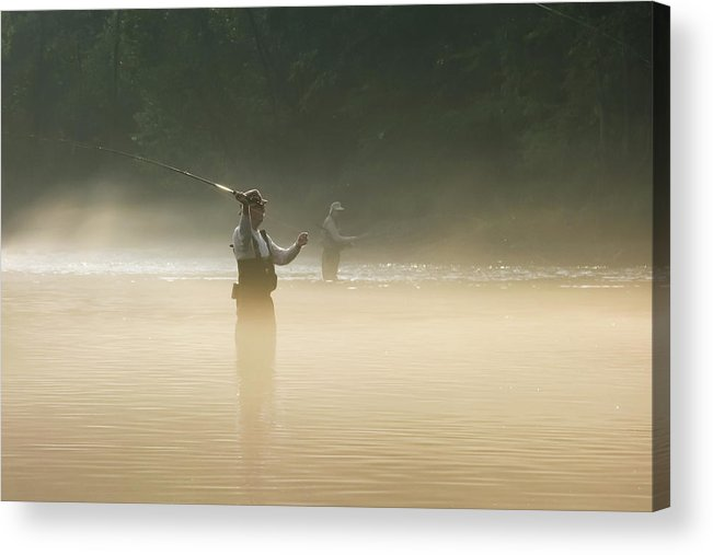 Man Acrylic Print featuring the photograph Fly Fishing by Betty LaRue