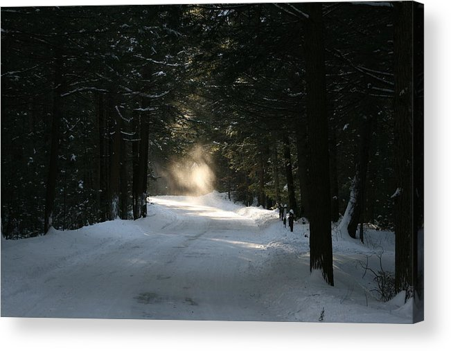 Falling Snow Acrylic Print featuring the photograph Flying Angel No.2 by Neal Eslinger