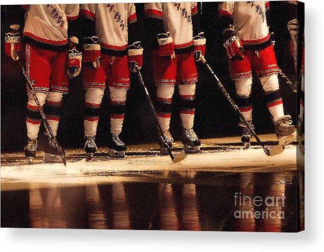 Hockey Acrylic Print featuring the photograph Hockey Reflection by Karol Livote
