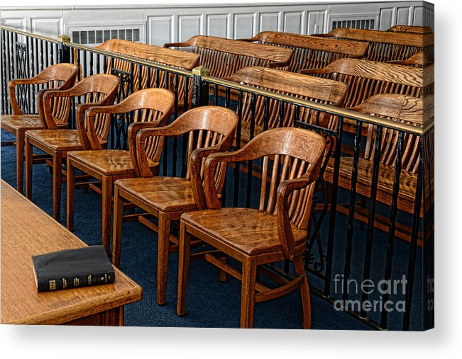 Paul Ward Acrylic Print featuring the photograph Lawyer - The Courtroom by Paul Ward