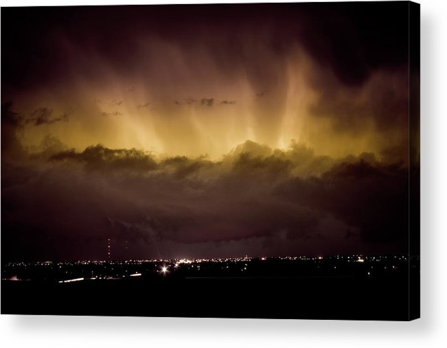 bo Insogna Acrylic Print featuring the photograph Lightning Cloud Burst Boulder County Colorado Im29 by James BO Insogna