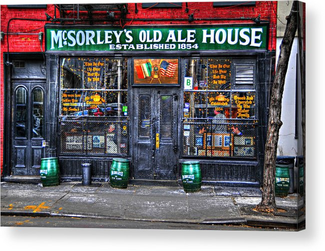 Mcsorley's Old Ale House Acrylic Print featuring the photograph Mcsorley's In Color by Randy Aveille