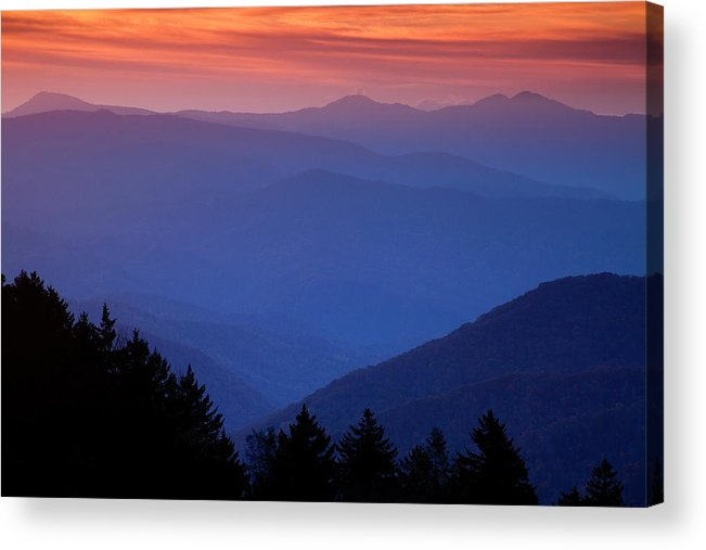 Smokies Acrylic Print featuring the photograph Morning Colors In The Smokies by Andrew Soundarajan