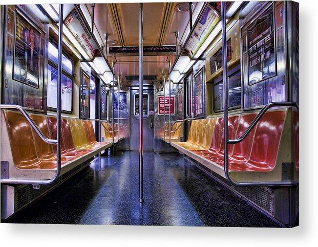 Subway Acrylic Print featuring the photograph Nyc Subway by Kelley King