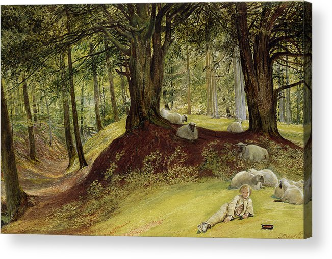 Parkhurst Acrylic Print featuring the painting Parkhurst Woods by Richard Redgrave