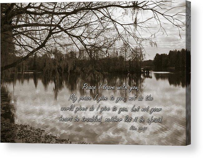 Landscape Acrylic Print featuring the photograph Peace I Leave With You by Carolyn Marshall