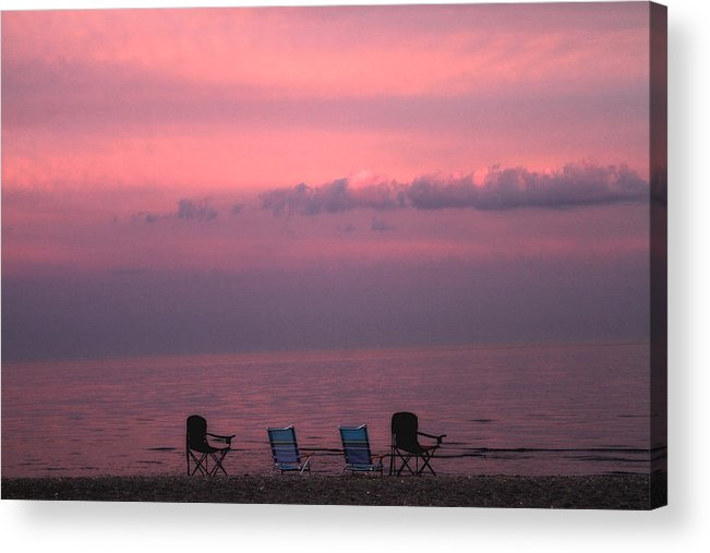 Coastal Acrylic Print featuring the photograph Pink And Deserted by Karol Livote